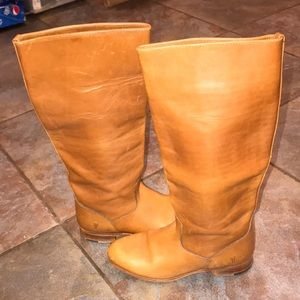 Tall, leather boots, FRYE brand, size 8!
